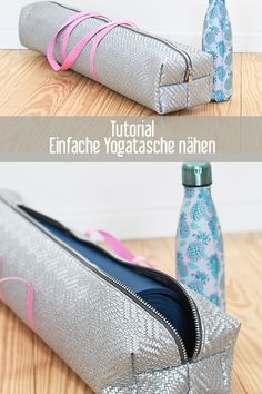 Einfache Yogatasche aus Kunstleder von Snaply nähen - Kostenlose Anleitung mit Schnittmuster Yoga Bag, Diy Projects To Try, Sewing Tutorials, Sewing Ideas, Sewing Clothes, Paracord, Sunglasses Case, Sneakers, Anton