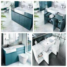 Aqua Cabinets D300 Semi-recessed Basin Unit : UK Bathrooms
