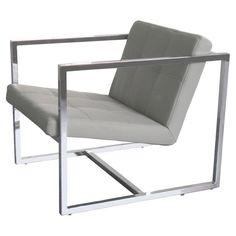 Lisa Arm Chair with Chrome Frame