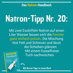 77 Soda applications: household, beauty, health & more - 77 Natron-Anwendungen: Haushalt, Schönheit, Gesundheit & mehr Soda tip # 20 – you can also use the white wonder drug sodium bicarbonate to clean the windows! Speed Cleaning, Cleaning Day, Deep Cleaning Tips, House Cleaning Tips, Spring Cleaning, Cleaning Hacks, Getting Rid Of Clutter, Cleaning Companies, Cleaning Products