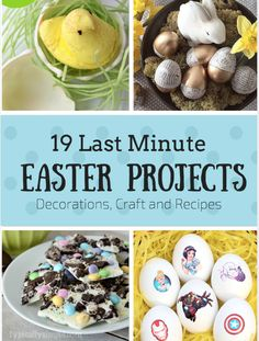 Last Minute Easter Decorations, Crafts and Recipes. Perfect DIY idea for your easter party or a project for everyone to get ready for Easter.