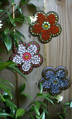mosaic flowers #art #design #mosaic