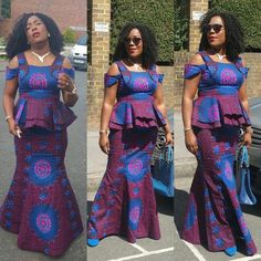 Unique ankara styles designed for 2017 has been compiled for your beautiful and dashing look. Ankara fabric has varieties in terms of quality, texture, design and colour but they all go well with any style of your choice. African Print Fashion, Africa Fashion, African Fashion Dresses, African Attire, African Wear, African Women, African Dress, African Prints, African Clothes