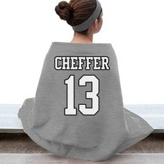 Jersey Style Stadium Blanket | Stay warm while in the stands with this plush stadium blanket. Customize with your favorite athelete's name and number. Choose your team colors as well!