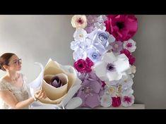Natacha Créative, fleurs de papier géantes - YouTube
