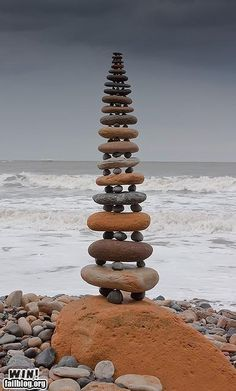 I love rock balancing. Very calming and centering activity.