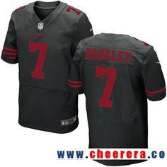 Men's San Francisco 49ers #7 Matt Barkley Black Alternate Stitched NFL Nike Elite Jersey