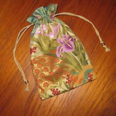 Japanese Fans and Irises Design Tiny Tote Pouch Purse Organizer by…