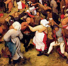 Baile de boda campesina, 1566, Pieter Bruegel