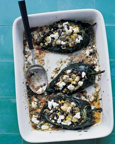 yummm: Quinoa-Stuffed Poblano Peppers in a Chipotle Sauce, Wholeliving.com