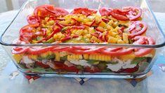 Layered Tuna Salad by Carole's Chatter Pickling Cucumbers, Tuna Recipes, Ripe Avocado, Tuna Salad, Bite Size, Fish And Seafood, Layers, Yummy Food, Lunch