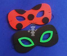 Máscara feitas em eva com elástico, tamanho único, servem para crianças e adultos Ladybug Y Cat Noir, Ladybug Party, Catio, Baby Shower, Bows, Lady Bug, Birthday, Ideas, Aesthetics