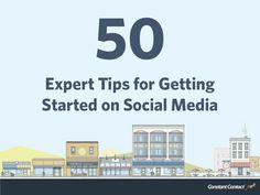 50 Expert Tips for Getting Started on Social Media (slideshow) http://www.slideshare.net/ConstantContact/50-expert-tips-for-getting-started-on-social-media-33900540