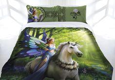 Anne Stokes Realm of Enchantment Double Queen or King Size Doona Quilt cover set.  Available at Kids Mega Mart Shop Australia www.kidsmegamart.com.au