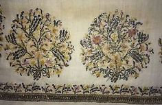 19th C LARGE ANTIQUE OTTOMAN-TURKISH  HAND EMBROIDERY ON LINEN BRIDAL 'TOWEL'