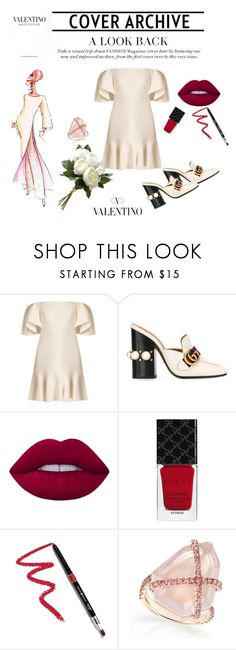 """""""Modern Classic"""" by ricardo-vitorino on Polyvore featuring moda, Valentino, Gucci, Lime Crime, Dollup Beauty, National Tree Company, Elie Saab e modern"""