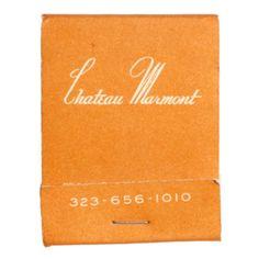 Chateau Marmont matchbook