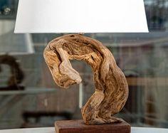 Mother Nature Art, Driftwood Lamp, Reclaimed Wood Lamp, Snake Shape Lamp, Handmade Lamp, Natural Wood Lamp