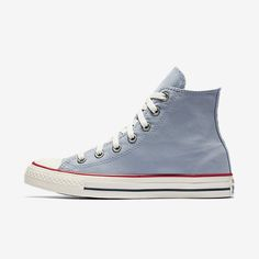 Nike unisex shoe blue slate converse chuck taylor all star ombre wash high Pink Sneakers, Girls Sneakers, Girls Shoes, White Nike Shoes, Blue Shoes, Blue Converse, All Star Shoes, Nike Shoes Outfits, Kinds Of Shoes