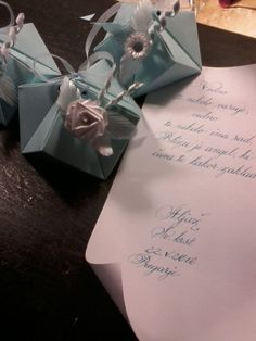 Quilling favor boxes for baptism