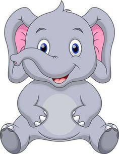 Cute baby elephant cartoon - Buy this stock vector and explore similar vectors at Adobe Stock Baby Elephant Drawing, Cute Elephant Cartoon, Baby Elephant Nursery, Cute Baby Elephant, Baby Elephants, Cartoon Cartoon, Cartoon Drawings, Animal Drawings, Cute Drawings