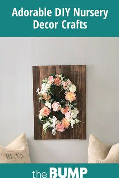 Spruce up baby's room with these simple yet stunning DIY nursery decor projects. Nursery Crafts, Diy Nursery Decor, Nursery Ideas, Baby Furniture, Accent Pieces, Color Inspiration, Boy Or Girl, Simple, Creative
