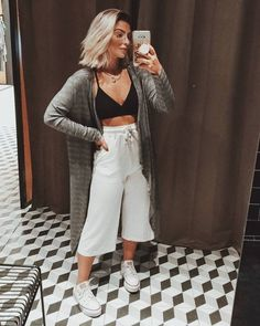 look com all star New Outfits, Summer Outfits, Casual Outfits, Cute Outfits, Fashion Outfits, Girl Fashion, Fashion Looks, Womens Fashion, Fashion Design