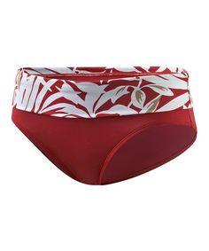Look at this #zulilyfind! Red & White Victoria Bikini Bottom - Women #zulilyfinds