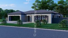 4 Bedroom House Plan – My Building Plans South Africa Tuscan House Plans, Southern Living House Plans, Porch House Plans, Lake House Plans, Basement House Plans, Family House Plans, Craftsman Style House Plans, Single Storey House Plans, Square House Plans