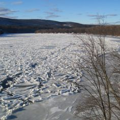 Connecticut River in the winter