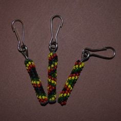 Royal Rasta Zipper Pull 3 set