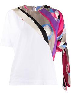 Denim Dye, Cotton Scarf, White Shop, Emilio Pucci, Size Clothing, Cuffs, Women Wear, Short Sleeves, Detail