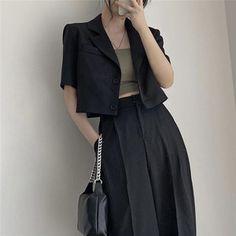 Fashion Pants, Look Fashion, Korean Fashion, Girl Fashion, Fashion Outfits, Classy Outfits, Casual Outfits, Cute Outfits, Korean Outfits