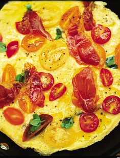 Tomato And Basil Omelette by Jamie Oliver Egg Recipes, Brunch Recipes, Breakfast Recipes, Cooking Recipes, Healthy Recipes, Breakfast Ideas, Paleo Breakfast, Healthy Brunch, Brunch Ideas