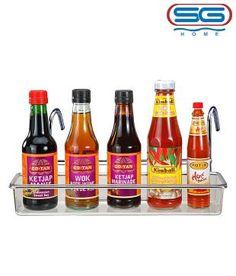 SG Exclusive Polycarbonate & Stainless Steel Multi-Purpose Rack Stainless Steel Kitchen, Wok, Kitchen Organization, Hot Sauce Bottles, Kitchen Accessories, Purpose, Organize, Healthy, Kitchen Storage