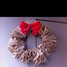 Cowboy Christmas wreath I made!