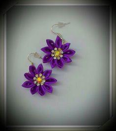 #kanzashi #kanzashi earrings