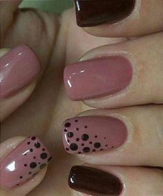 Fabulous Pink and Blood Red Dotted Nail Art Designs .- Fabulous pink and blood red dotted nail art designs nail art - Red Nail Designs, Creative Nail Designs, Creative Nails, Fingernail Designs, Solar Nail Designs, Simple Nail Designs, Nagellack Design, Dot Nail Art, Trendy Nail Art