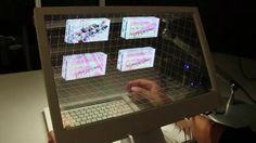 Using advanced 3D tracking technology and a Samsung transparent OLED display, Microsoft's Applied Sciences Group has created a science fiction-level desktop UI that shows a sample of what the future of computing could look like.