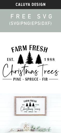 Cricut Christmas Ideas, Christmas Fonts, Christmas Tree Farm, Free Christmas Printables, Christmas Projects, Free Printables, Xmas, Vinyle Cricut, Cricut Vinyl