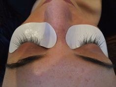 Eyelash extensions are applied with an adhesive that dries soft allowing lashes to stay flexible and natural looking.