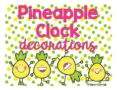 These pineapple clock decorations are to die for! Help your students correlate analog and digital times in a flash with these trendy clock decorations.