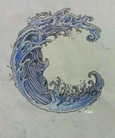 Japanese Waves Tattoo - Design of Tattoo