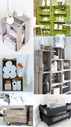 recycle dieci modi per trasformare una cassetta di legno in un pezzo d'arredo | StyleNotes - Appunti di Stile www.stylenotes.it