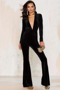 Bell It Like It Is Velvet Jumpsuit - Clothes | Rompers + Jumpsuits | Best Sellers | Party Shop