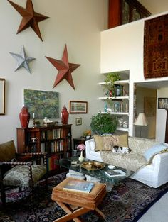 Knickerbocker Style & Design: Abstract Modern Art in a Traditional Eclectic Room