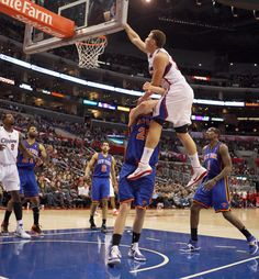 Blake Griffin says, okay, no problem Ill just jump over you.