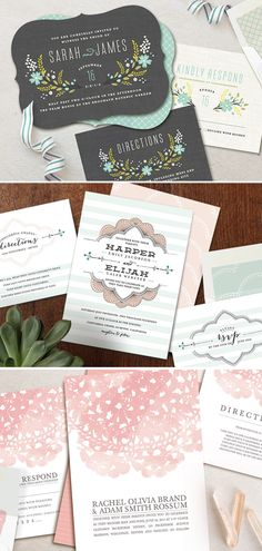 Minted wedding stationery + $200 giveaway | Pretty Paper, Sponsored Post | 100 Layer Cake