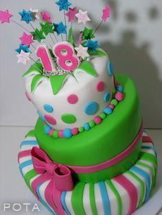 """Gâteau d'Anniversaire """"18 ans"""" - Topsy Turvy Cake, Torta za 18-ti rodjendan, kriva torta"""
