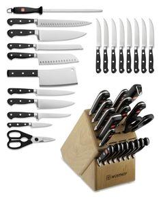If you don't buy me this 20 piece Wustoff Classic knife set, I'll cutchu!